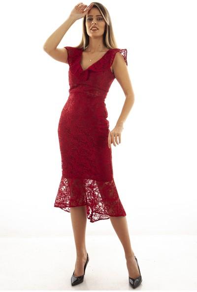 Arda New Line Kadın Bordo Elbise 130137-10.04 38