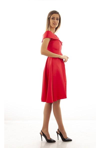 Arda New Line Kadın Kırmızı Elbise 130142-10.08 38