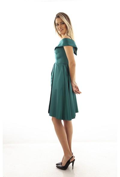 Arda New Line Kadın Zümrüt Elbise 130142-10.123 40