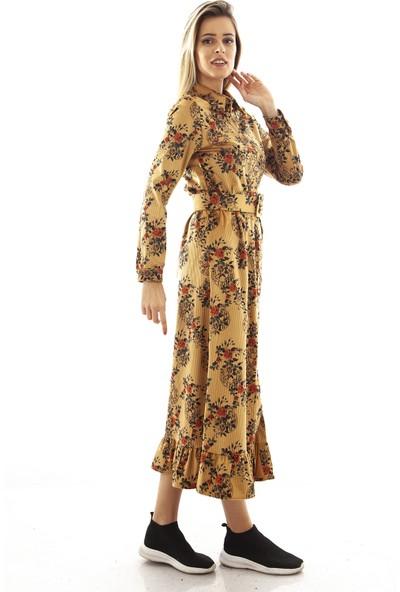 Arda New Line Camel Elbise 94032488.09 36