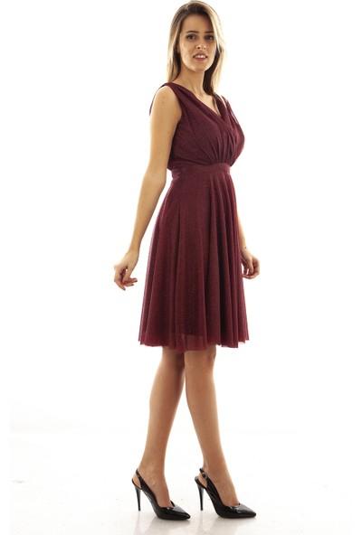 Arda New Line Kadın Bordo Elbise 9704507-10.04 36
