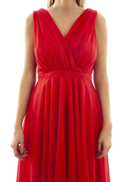 Arda New Line Kadın Kırmızı Elbise 9704507-10.08 36