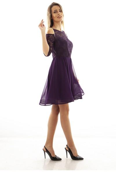 Arda New Line Kadın Mor Elbise 9704522-10.03 42