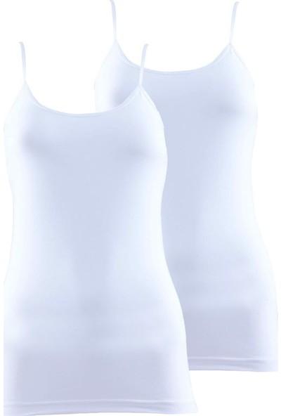Blackspade 1591- Essential Kadın İnce Askılı Atlet 2'li Paket