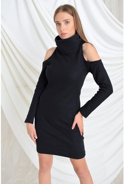 Miss Lusi 9391436 Ribana Omuzu Açık Balıkçı Elbise