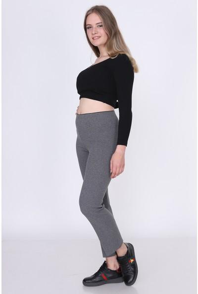 Miss Lusi 9380793 Fitilli Beli Lastikli Uzun Pantolon