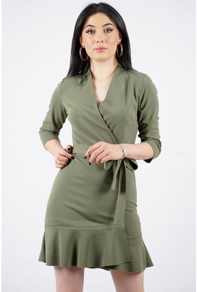 SpringStore Kadın Beli Kuşaklı Kısa Elbise
