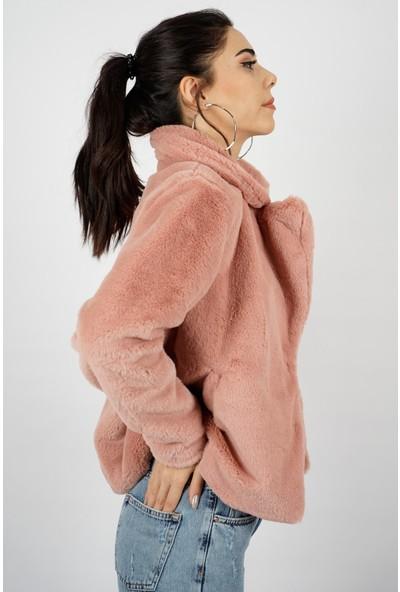 SpringStore Kadın Yumuşak Kürk Kaban