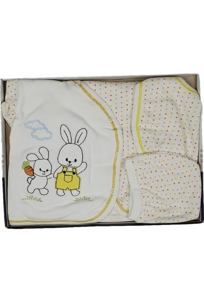 Gonca Bebe Tavşan Baskılı Zıbın Takımı