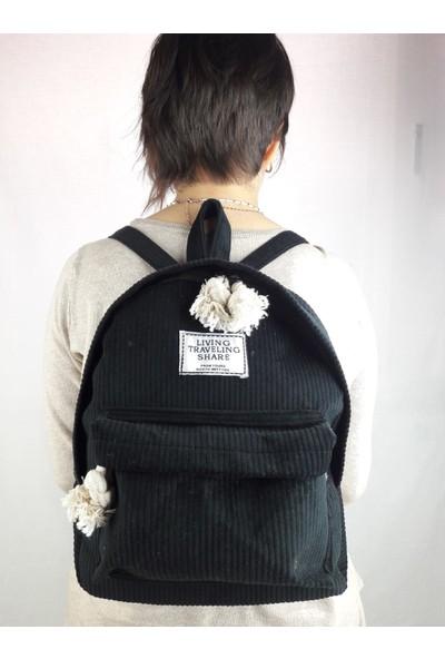 Yasmin Kadife Kadın Sırt Çanta