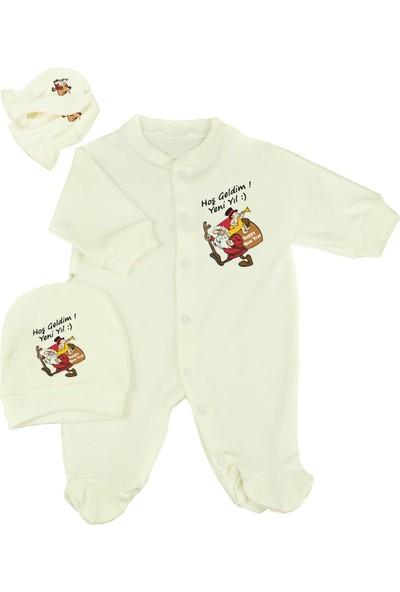 Hoş Geldim Yeni Yıl Bebek Tulum Seti Hediyelik %100 Pamuk