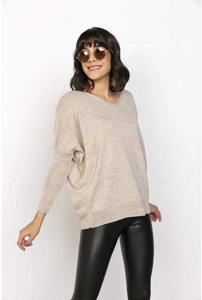 Liplipo Yarım Balıkçı Çizgili Triko Elbise