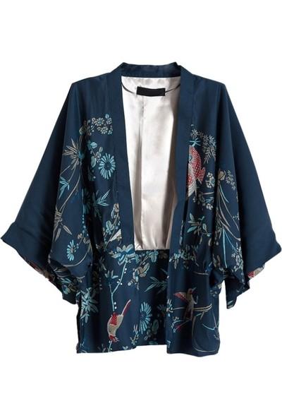 Gob2c Desenli Kadın Kimono
