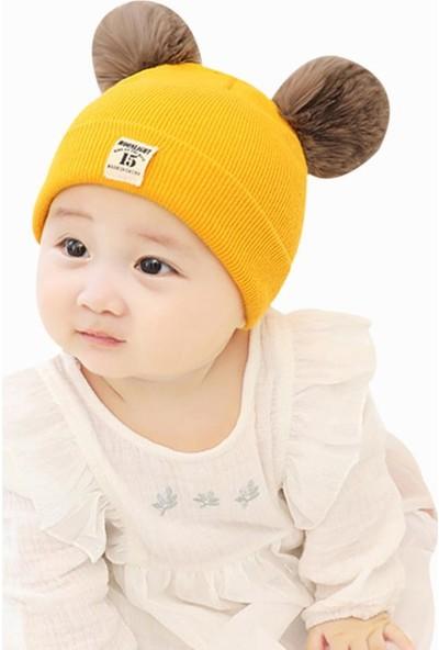 GOB2C Erkek Kız Bebek Ponponlu Bere