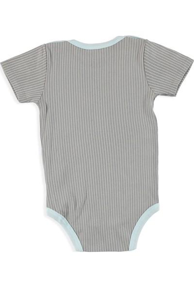 Aziz Bebe Erkek Bebek Adventure Yakası Çıtçıtlı Kısa Kol Body