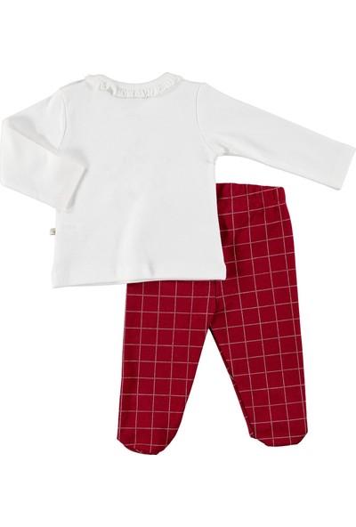 For My Baby Bebek Masal Fırfır Yakalı Swatshirt Patikli Alt 2'li Takım