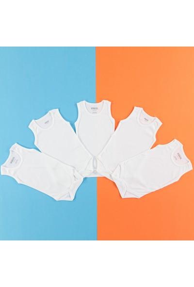 HelloBaby Bebek Atlet Body Beyaz 1 Yaş (5'li Paket)