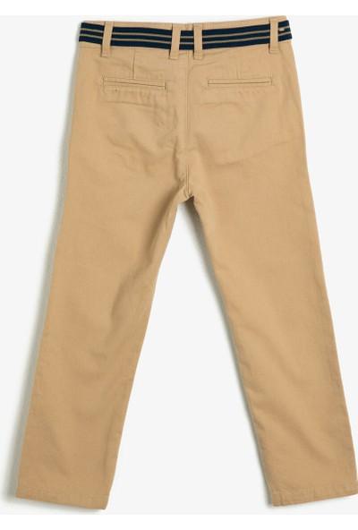 Koton Erkek Çocuk Kemer Detayli Pantolon