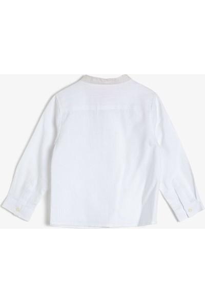 Koton Erkek Çocuk Cep Detayli Gömlek