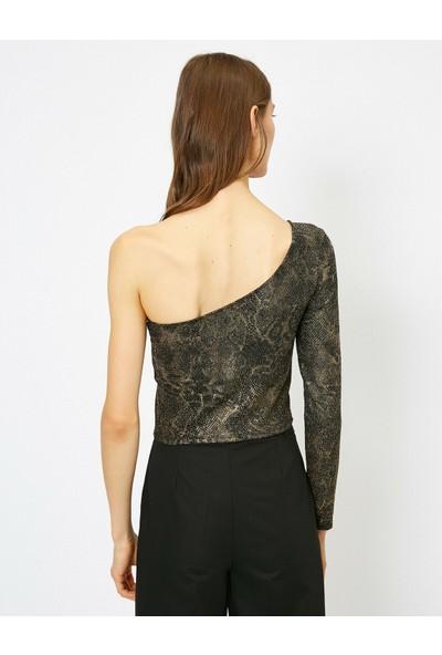 Koton Kadın Yilan Derisi Desenli Bluz