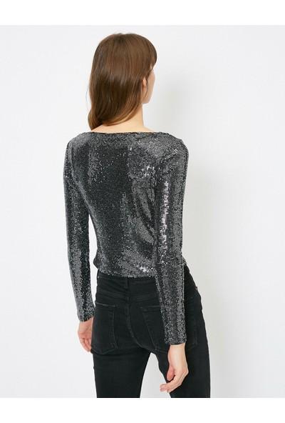 Koton Kadın Pul Detaylı Bluz