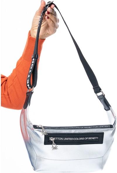 Benetton Kadın Bel Çantası Gümüş-Siyah Bnt134