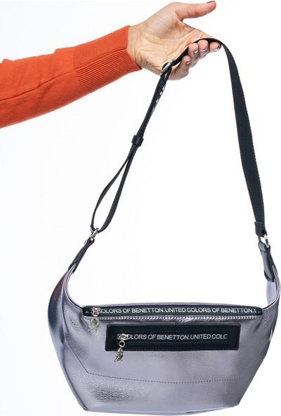 Benetton Kadın Bel Çantası Platin-Siyah Bnt134