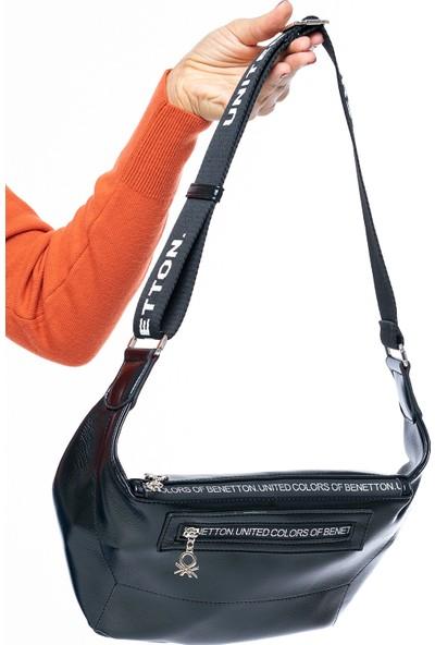 Benetton Kadın Bel Çantası Siyah Bnt134