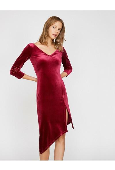 Koton Yirtmaç Detayli Elbise