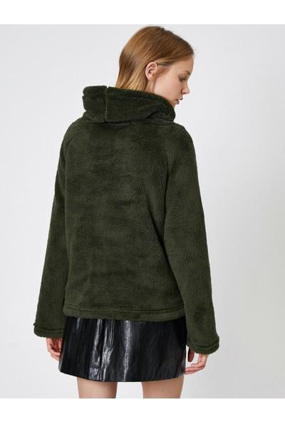 Koton Yüksek Yaka Pelus Sweatshirt