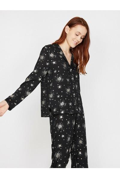 Koton Desenli Pijama Üstü