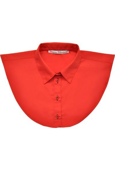 Hope Blooms Kadın Sahte Gömlek Yaka (Kırmızı)