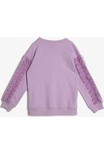 Koton Frozen Lisanslı Baski Sweatshirt