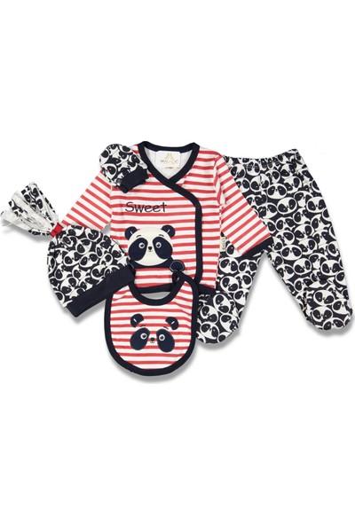 Fahroni Erkek Bebek Pandalı 5'li Zıbın Seti