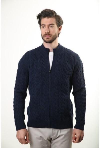 Sweater Yarım Balıkçı Yaka Erkek Hırka 4116