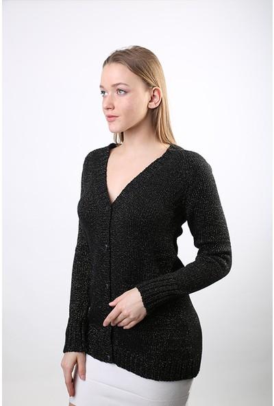 Sweater V Yaka Kadın Kışlık Hırka Sw-3001