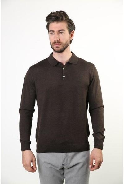 Sweater Polo Yaka Erkek Triko 6000