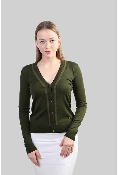 Sweater V Yaka Kışlık Hırka 2779