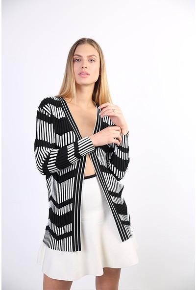 Sweater Düz Yaka Pamuklu Yazlık Kadın Hırka 3882