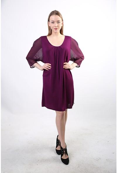 Filippo Ghada U Yaka Kadın Kışlık Elbise Sr-080064