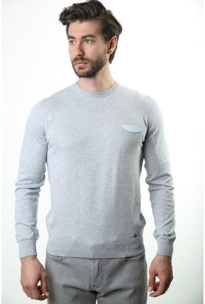 Sweater Bisiklet Yaka Erkek Triko 3641