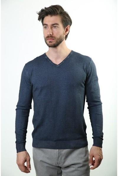 Sweater V Yaka Erkek Triko 3133