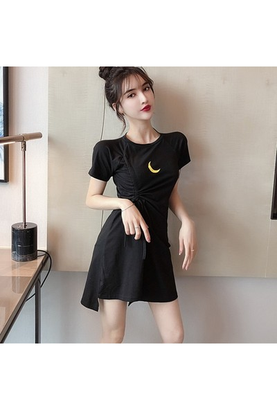 Gob2c Sıfır Yaka Lastikli Elbise