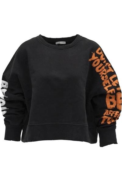 #Vdr 6062 Kadın Sweatshirt Siyah