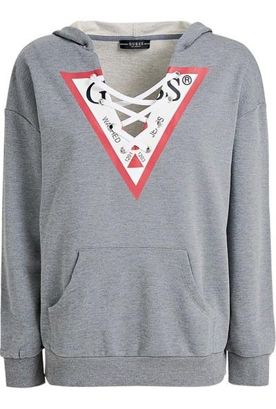 Guess W93Q55K8800 Kadın Sweatshirt Gri