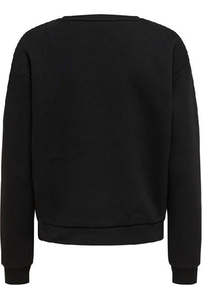 Only 15206529 Kadın Sweatshirt Siyah