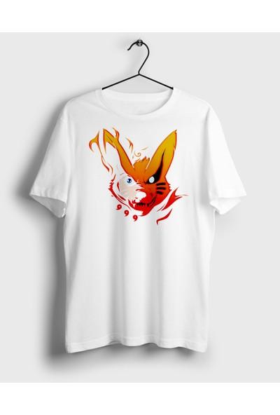 Animepazarı Uzumaki Naruto ve Kyuubi Kurama Unisex Anime T-shirt
