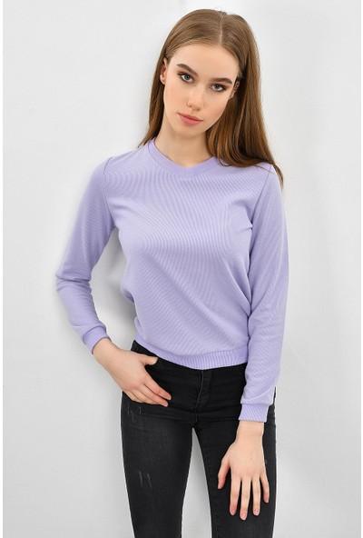 Tena Kadın Lila Selanik Basic Sweatshirt 9KBSWTN3011