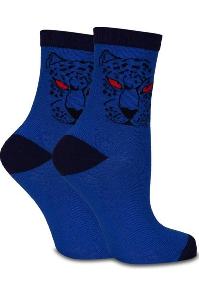 Socks Concept Kaplan Desenli Renkli Soket Çorap 5'li Ekonomik Paket
