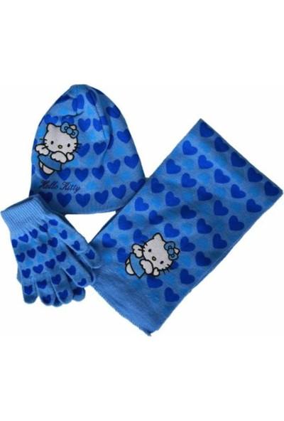 Hello Kitty Lisanslı Unisex Çocuk,atkı,bere,eldiven (3-6 Yaş)